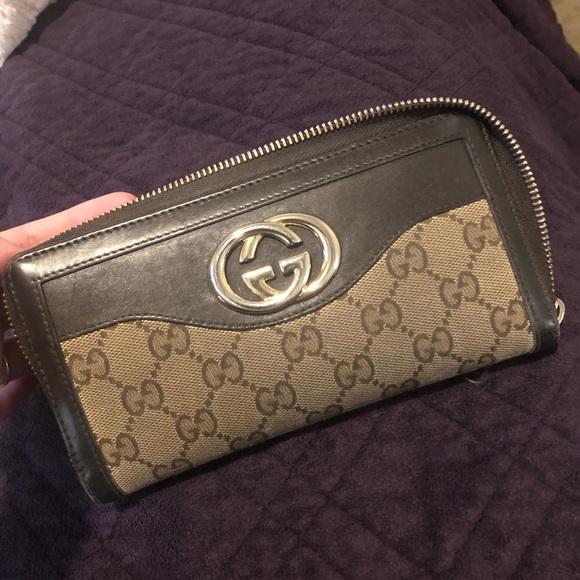 Gucci Handbags - Brown Gucci Wallet
